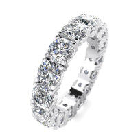 Diamond Eternity Rings 5 carat Unique D-SI Clarity Enhanced Diamond Eternity Ring in 14k White Gold