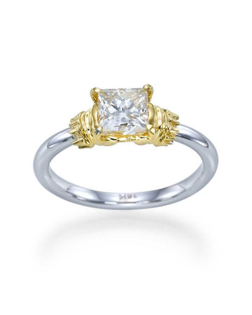 Engagement Rings Antique Style Princess Cut Engagement Ring with 1.00 carat Diamond