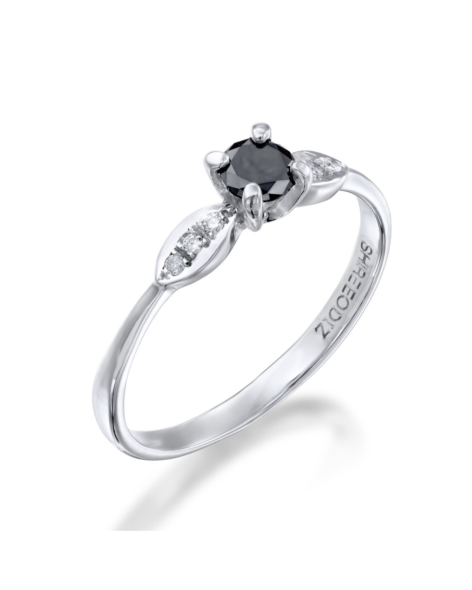 Engagement Rings Black Diamond Thin 4prong Vintage Delicate Ring 050ct: Delicate Vintage Wedding Rings At Websimilar.org