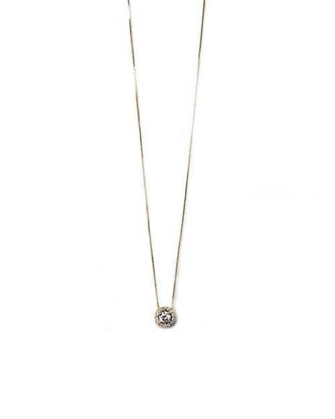 Pendants Classic Halo Round Diamond Pendant Necklace - 0.34 carat