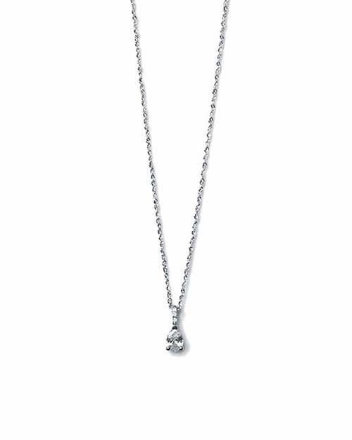 Pendants Classic Pear Cut Diamond Solitaire Pendant Necklace - 0.33 carat F/VS2