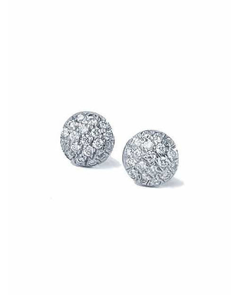 Earrings Cluster Diamond Earrings in White Gold - 0.25 carat