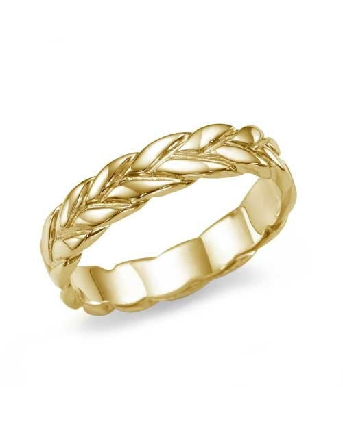 Designer Vintage Wedding Ring Band in Yellow Gold - Shiree Odiz