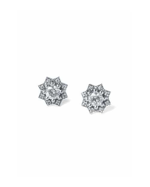 Earrings Diamond Star Designer Earrings in White Gold - 0.56 carat
