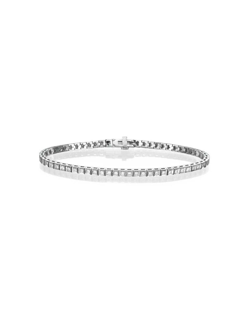 Bracelets Diamond Tennis Bracelet in White Gold - 0.56 carat (0.01ct each) F/VS Quality
