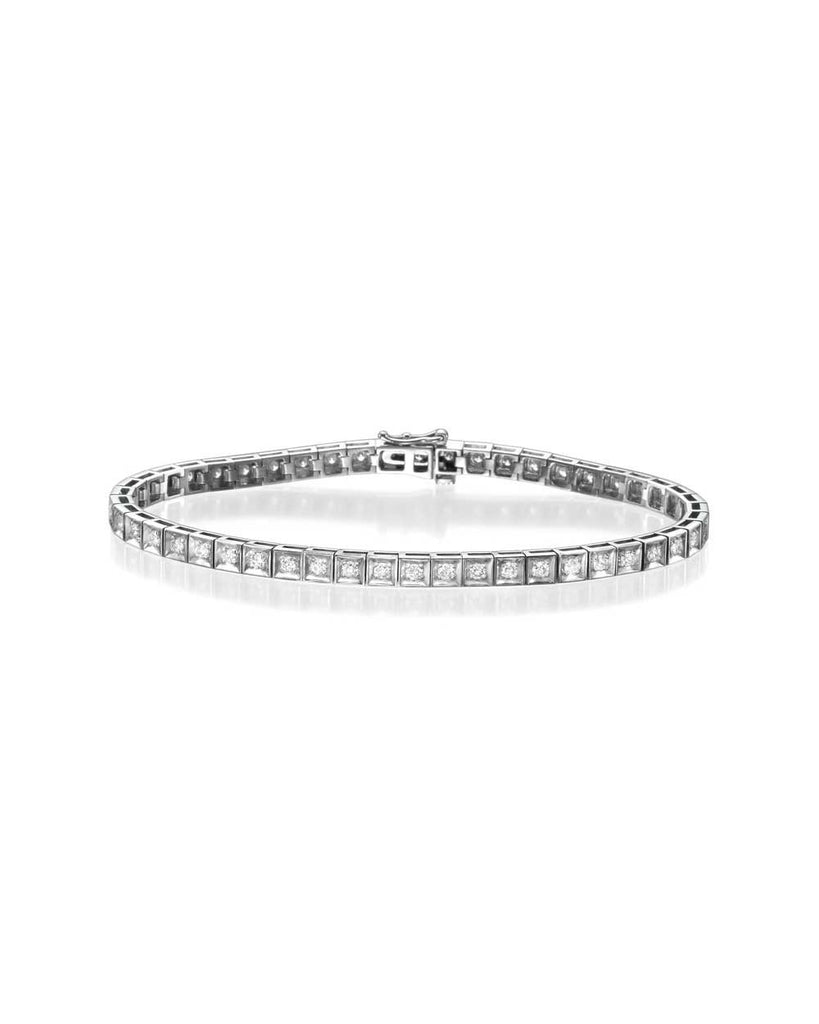 Diamond Tennis Bracelet in White Gold - 1.47 carat (0.03ct each) F/VS Quality - Custom Made