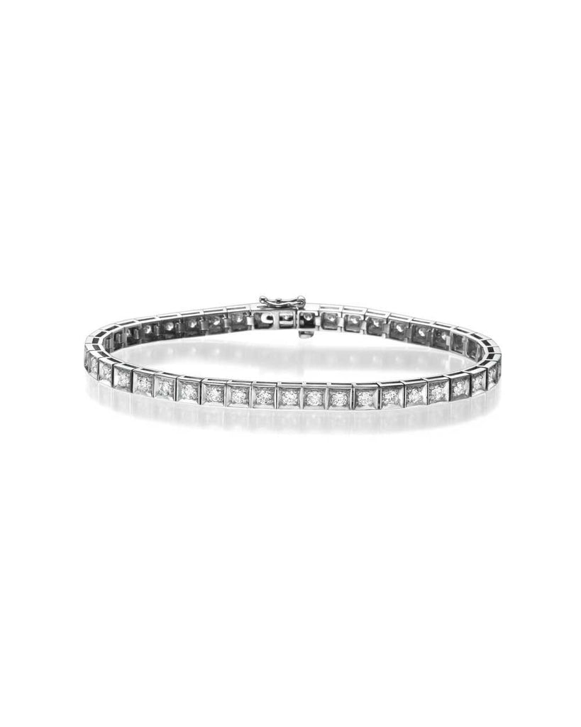 Diamond Tennis Bracelet in White Gold - 2.15 carat (0.05ct each) F/VS Quality - Custom Made
