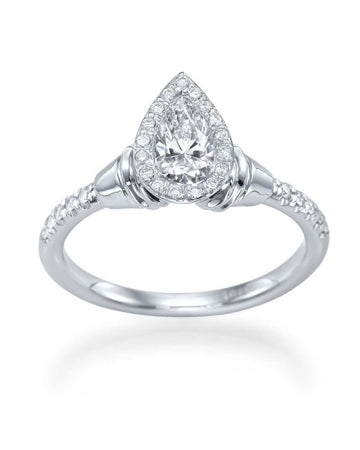 Engagement Rings Halo Pear Shaped Diamond Antique Vintage Engagement Ring Semi Mount Ring Settings