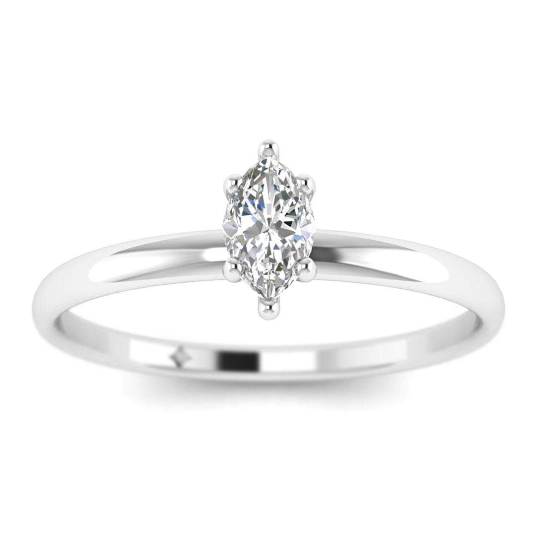 Marquise Diamond Solitaire Engagement Ring In White Gold Shiree Odiz