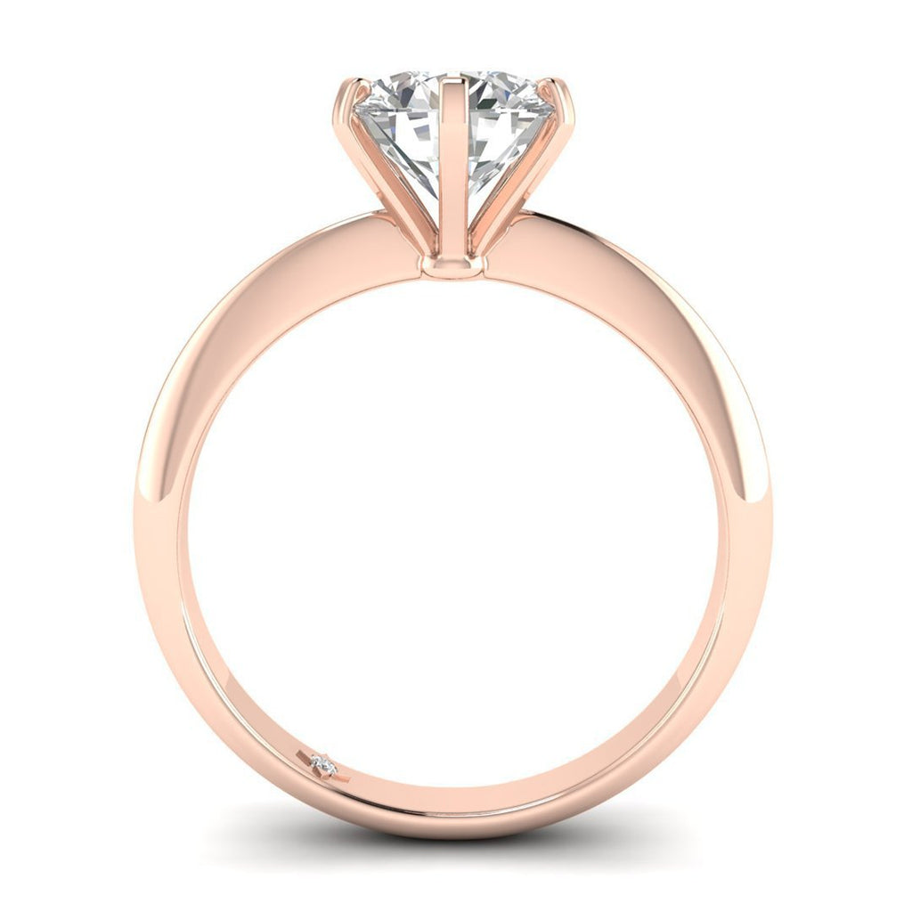 Moissanite Engagement Ring - Rose Gold 6-prong 1.25 carat D/VVS1 Forever One - Custom Made