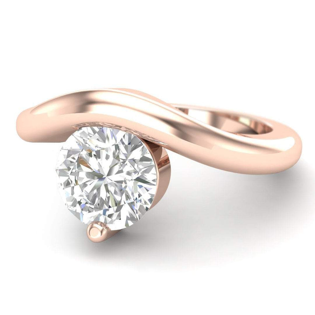 Moissanite Engagement Ring - Rose Gold Floating 0.65 carat D/VVS1 Colorless - Custom Made