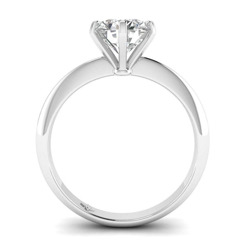 Moissanite Engagement Ring - White Gold 6-prong 2.00 carat D/VVS1 Colorless - Custom Made