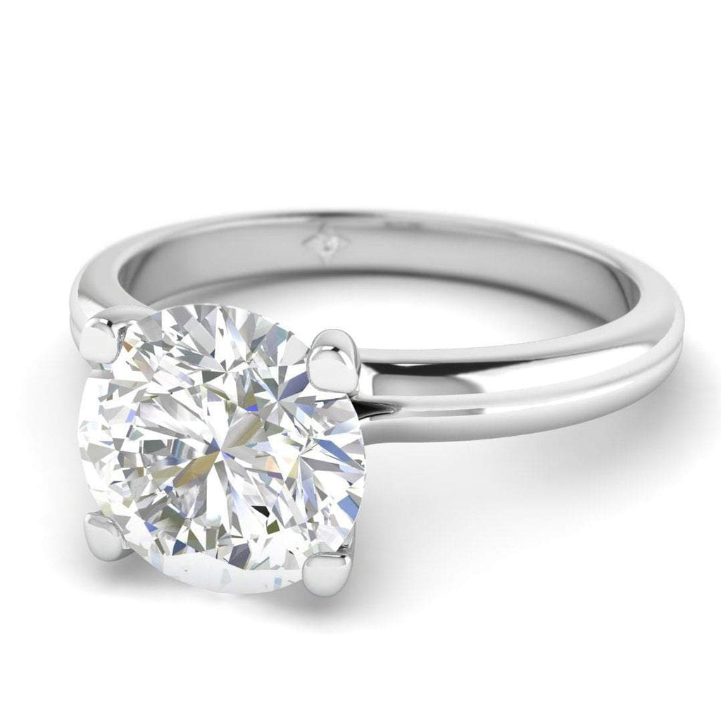 Moissanite Engagement Ring - White Gold Solitaire 0.65 carat D/VVS1 Colorless - Custom Made