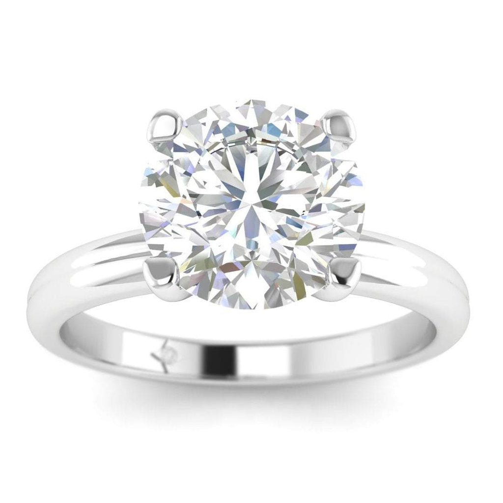 Moissanite Engagement Ring - White Gold Solitaire 0.90 carat D/VVS1 Colorless - Custom Made