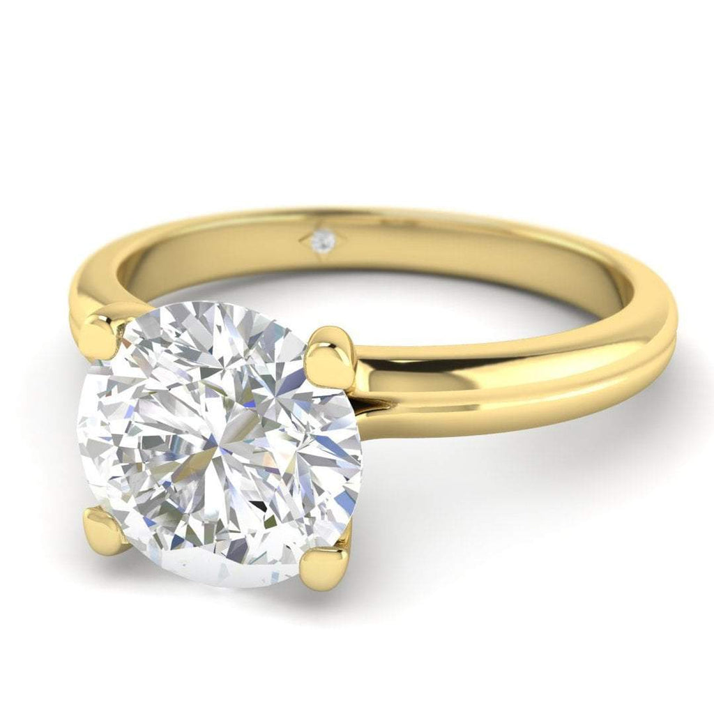 Moissanite Engagement Ring - Yellow Gold Solitaire 1.25 carat D/VVS1 Forever One - Custom Made