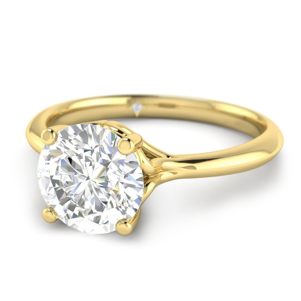 Moissanite Engagement Ring - Yellow Gold Vintage 1.00 carat D/VVS1 Colorless - Custom Made