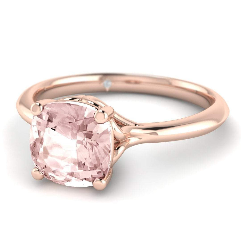 Morganite Engagement Ring - Rose Gold Vintage 1.00 carat Peachy Pink - Custom Made