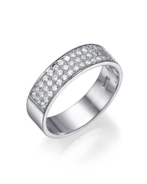 Wedding Rings Platinum 0.36ct Diamond Semi-Eternity Wedding Ring