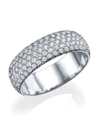 Wedding Rings Platinum 2.00ct Diamond Full-Eternity Pave Wedding Ring Band