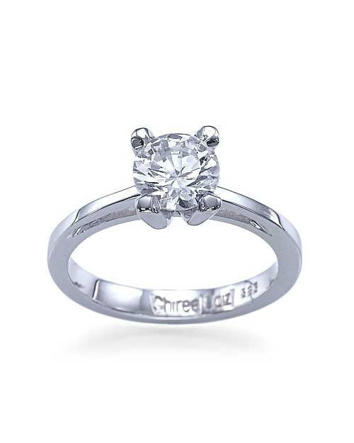 Engagement Rings Platinum Cathedral Round 4-Prong Engagement Ring - 1ct Diamond