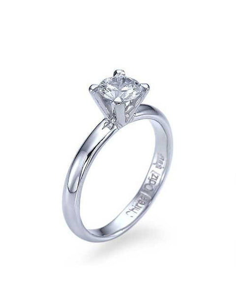 Engagement Rings Platinum Classic 4-Prong Round Cut Engagement Ring - 0.5ct Diamond