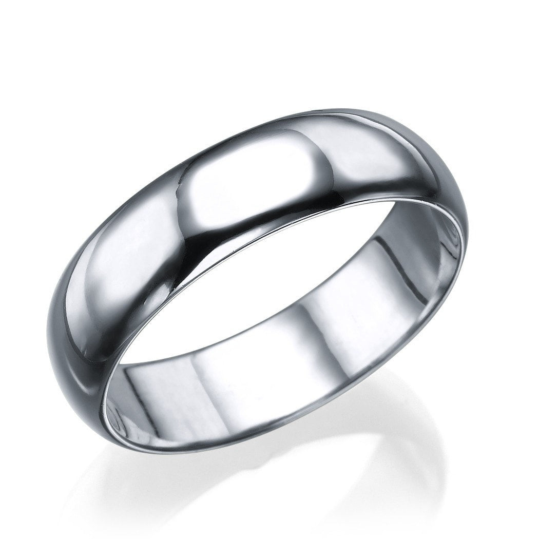 Platinum Men S Wedding Ring 5 6mm Rounded Design By Shiree Odiz Ny