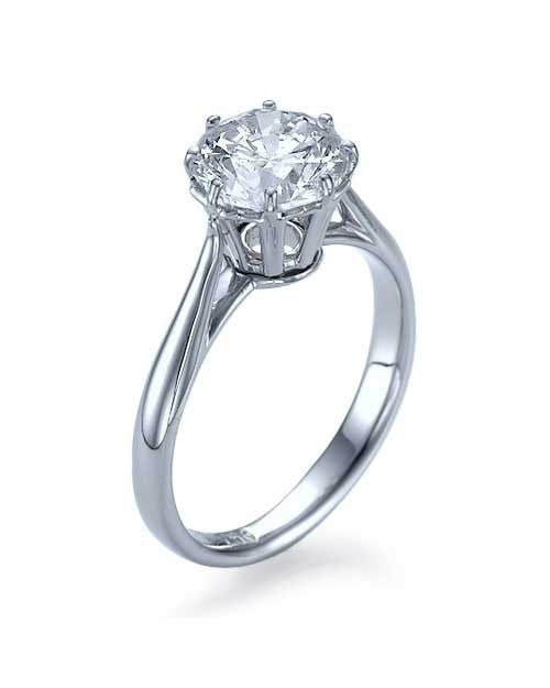 Engagement Rings Platinum Round Cut Vintage Basket Design Semi Mount Prong Ring Setting