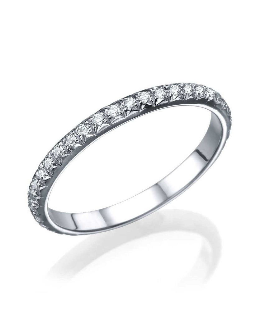 Wedding Rings Platinum Rounded Wedding Band Ring - 0.40ct Diamond Eternity