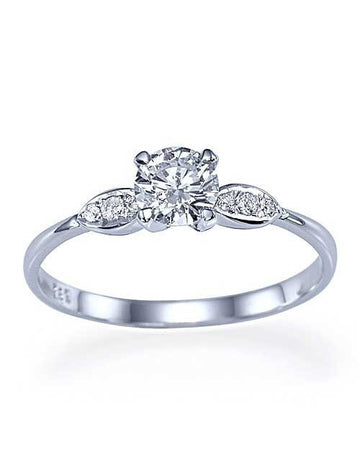 Engagement Rings Platinum Thin 4-Prong Vintage Delicate Engagement Ring - 0.5ct Diamond