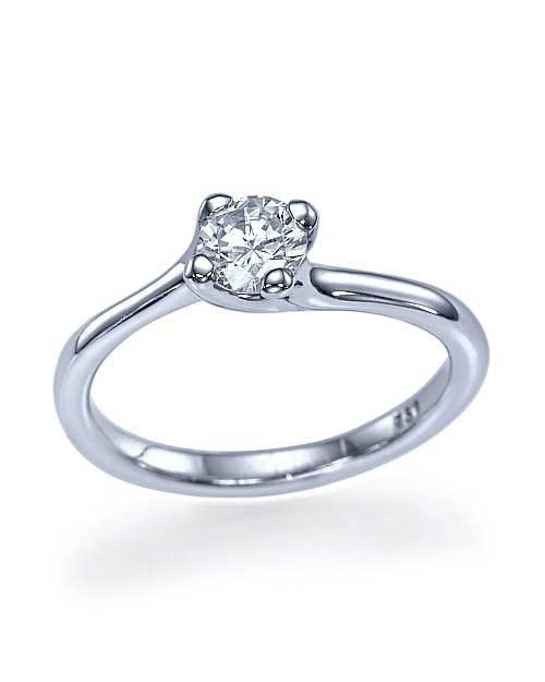 Platinum Twisted Italian Engagement Ring - 0.5ct Diamond - Custom Made