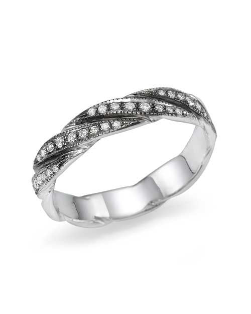 Platinum Unique Designer Striped Wedding Ring - Custom Made
