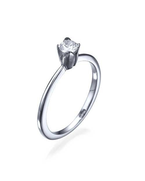 Engagement Rings Platinum Vintage Flower Petals Thin Engagement Ring - 0.3ct Diamond