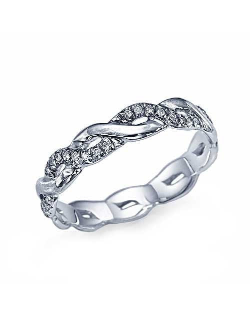 Wedding Rings Platinum Wedding Bands - Infinity Diamond Rings 0.17ctw