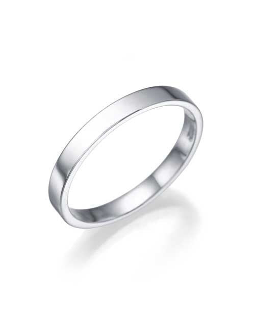 Wedding Rings Platinum Wedding Ring - 2.5mm Flat Design