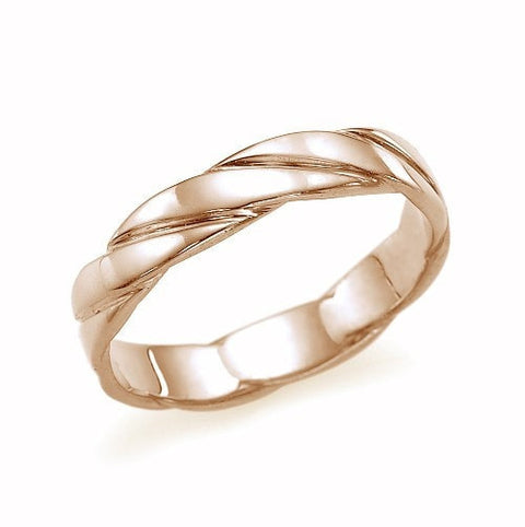Wedding Rings Traditional, Classic, Rose Gold Wedding Band Ring