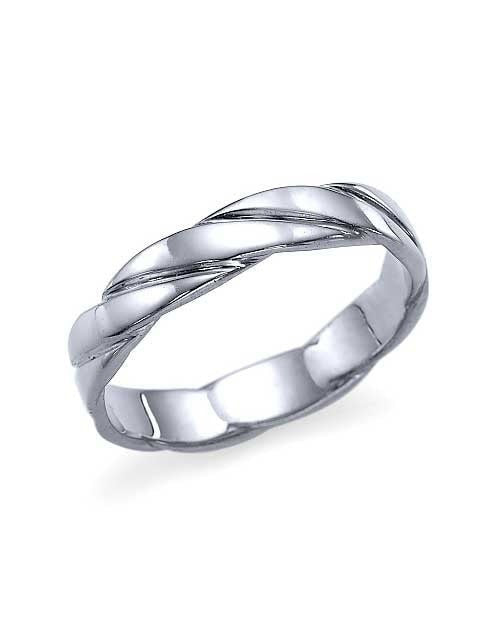 Traditional, Classic, White Gold Womens Wedding Bands - Custom Made