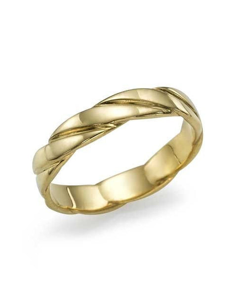 Wedding Rings Traditional Classic Yellow Gold Wedding Bandsin 14k / 18k