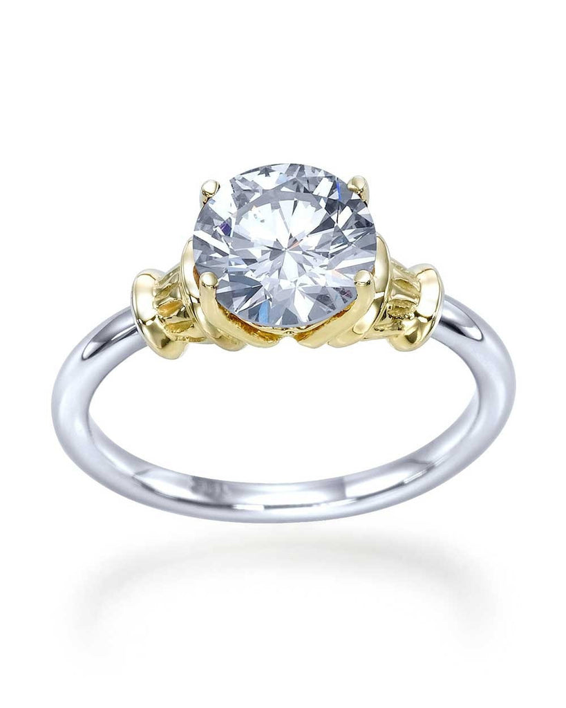 Two-Tone Designer Vintage Antique Engagement Ring with 1.50ct Diamond - Custom Made