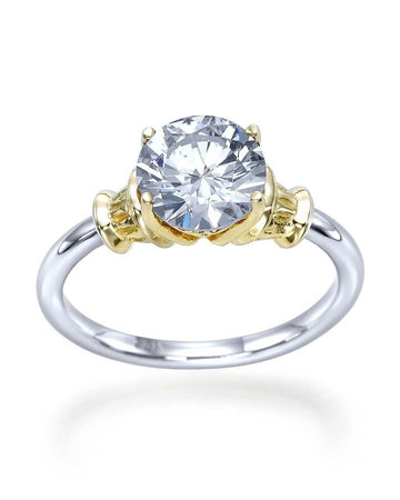 Engagement Rings Two-Tone Designer Vintage Antique Engagement Ring with 1.50ct Diamond