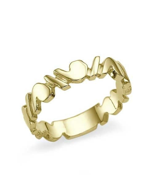 Unique Designer Yellow Gold Wedding Ring Band - Shiree Odiz