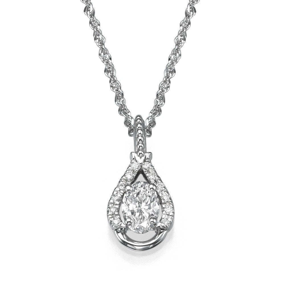 Pendants Unique Round Shaped Diamond Pendant Necklace - 0.45 carat F/VS2