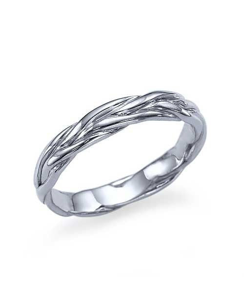 Wedding Rings Unique Twisted Vines Wedding Band Ring in Platinum