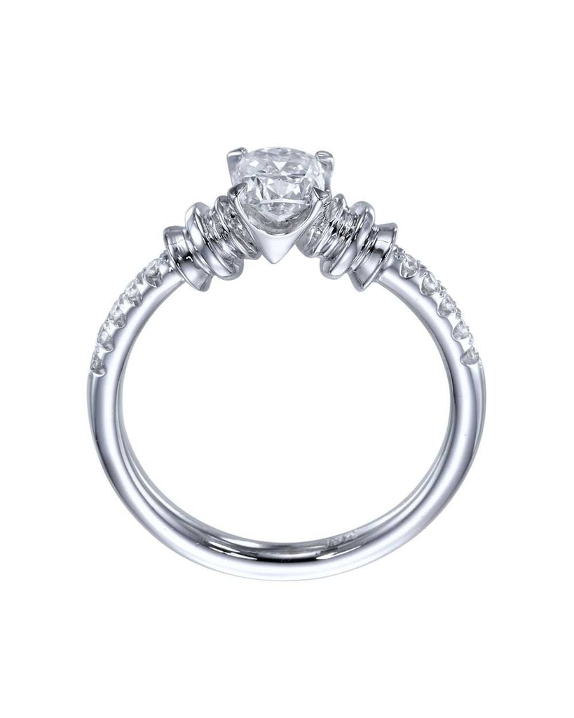 Vintage 4-Prong Round Cut Engagement Ring - 0.5ct Diamond - Custom Made