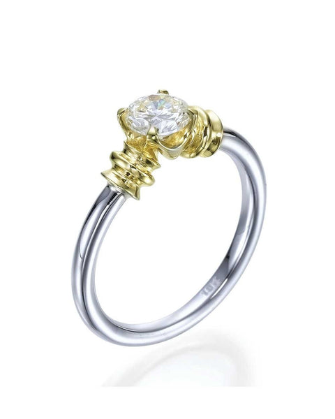 Engagement Rings Vintage Engagement Rings with 1.00ct Round Cut Clarity Enhanced Diamond