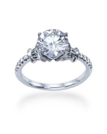 Engagement Rings Vintage Engagement Rings with 1.50 carat D/VS Round Diamond