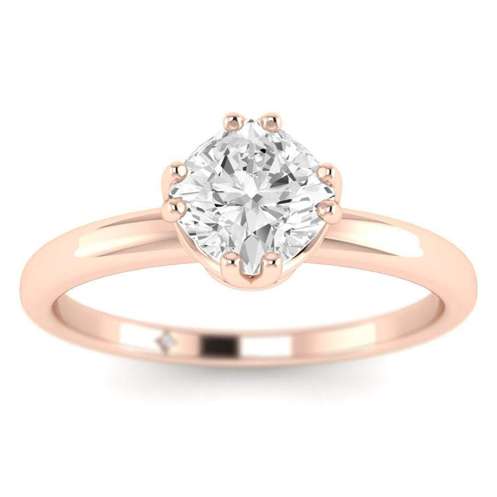 EN Vintage Princess Cut Diamond Engagement Ring in Rose Gold