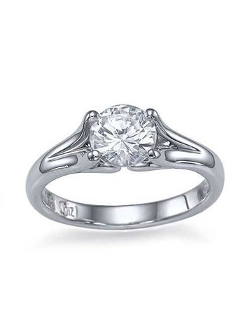 Engagement Rings Vintage Solitaire White Gold Engagement Ring - 0.35ct Diamond
