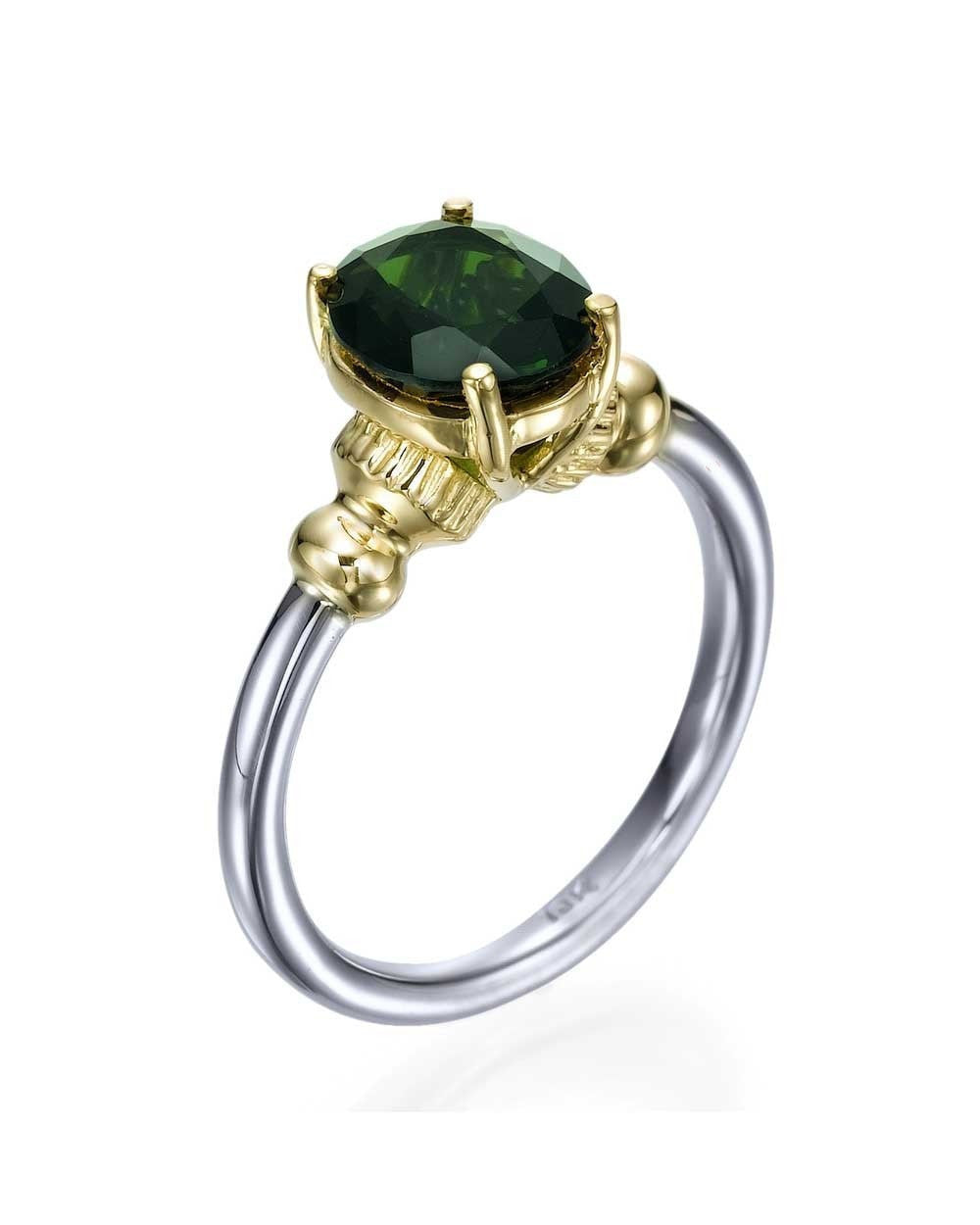 green diamond emerald rings image stone and three engagement amp ring gold