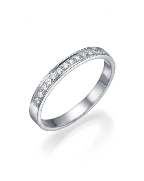 Wedding Rings White Gold 0.12ct Diamond Semi-Eternity Wedding Ring