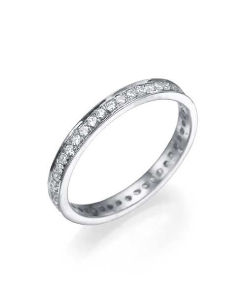 White Gold 0.36ct Diamond Full-Eternity Wedding Ring - Custom Made